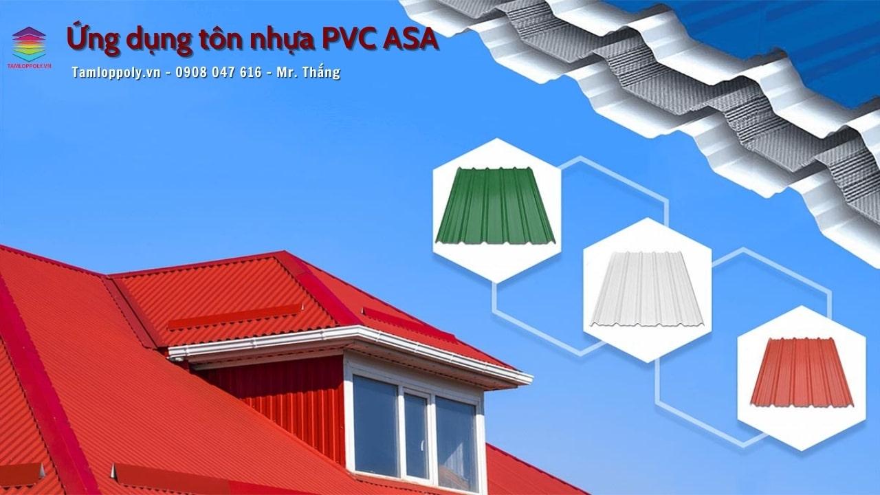 ứng dụng tôn nhựa pvc asa