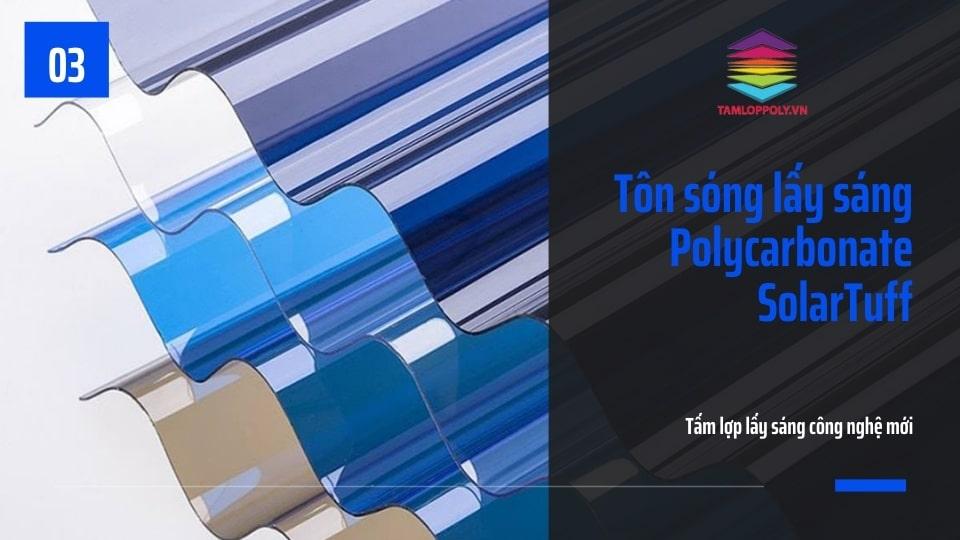 Tôn sóng lấy sáng Polycarbonate SolarTuff