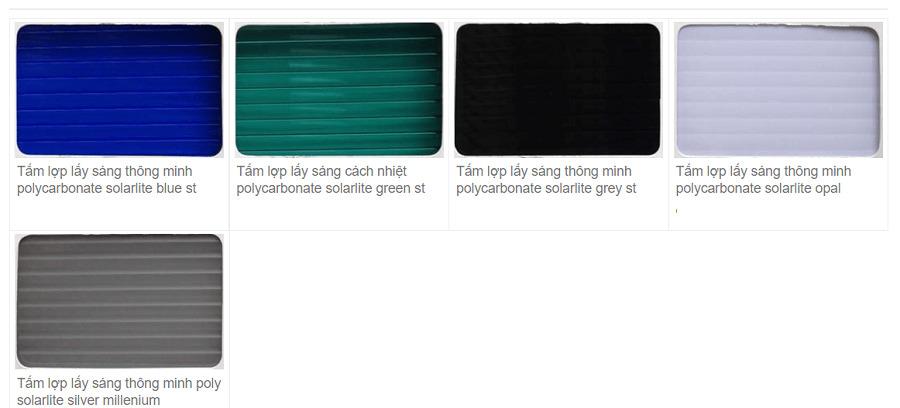 Tấm polycarbonate rỗng ruột Solarlite