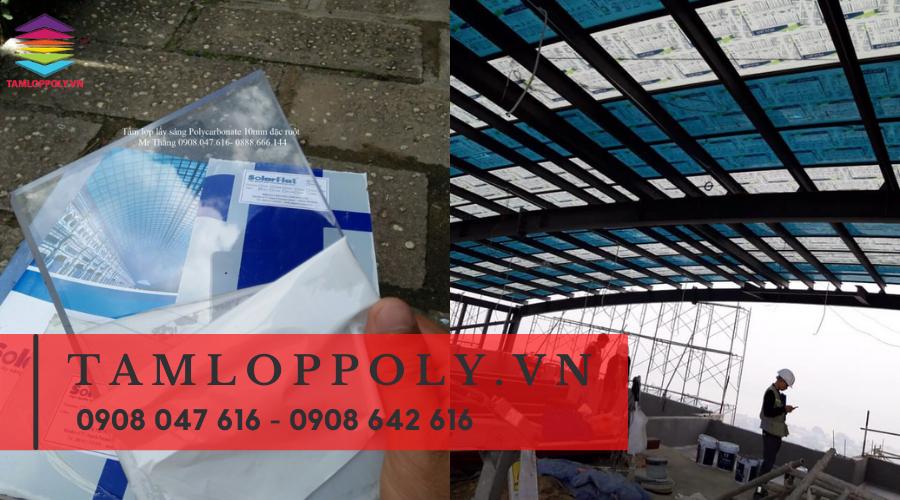 Tấm lợp lấy sáng Polycarbonate thường được dụng làm nhà kính nông nghiệp